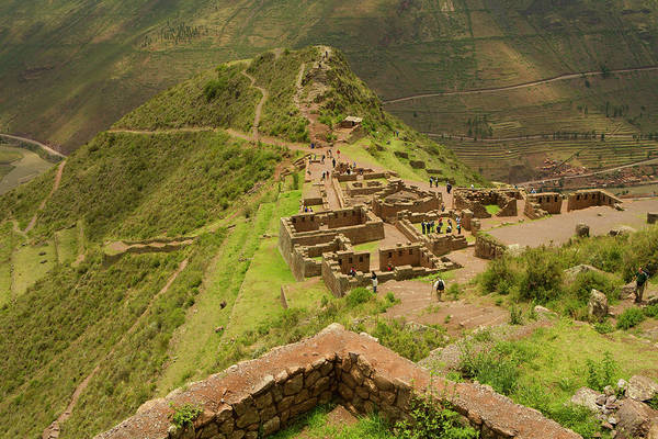 Cusco Photograph - Stone Ruins At Pisac National by Ralph Hopkins