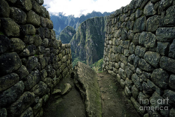 Wall Art - Photograph - Stone Walls Of Incan Ruins, Machu by Alisdair Jones