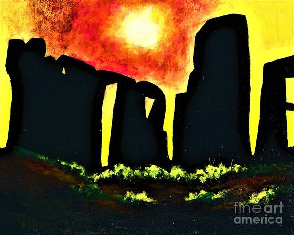 Painting - Stonehenge  by Allison Constantino