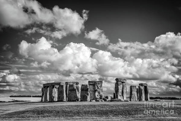 Magic Kingdom Photograph - Stonehenge Black And White by Delphimages Photo Creations