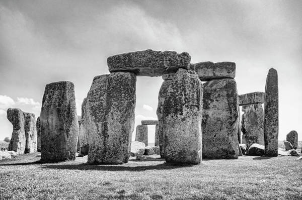 Photograph - Stonehenge Monochrome by Sharon Popek