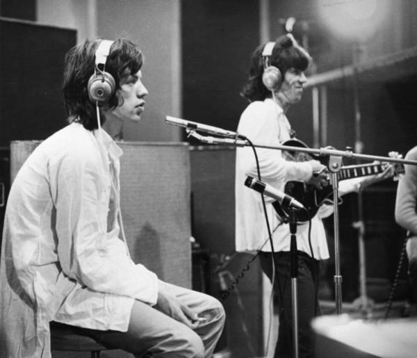 Mick Jagger Photograph - Stones In The Studio by Keystone Features