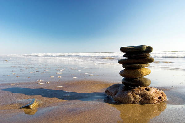 Vacation Time Photograph - Stones On A Beach by Urbancow