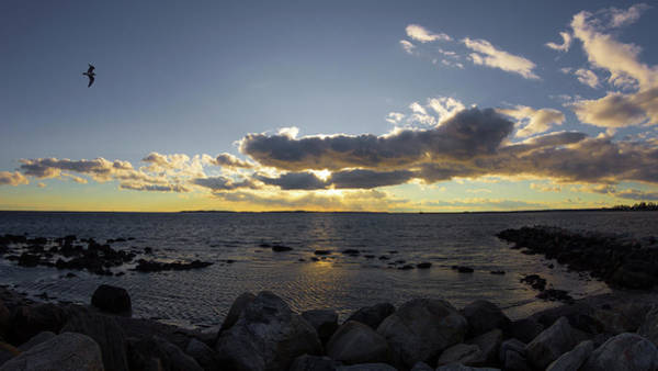 Photograph - Stonington Point Cloudy Sunset 2019 by Kirkodd Photography Of New England