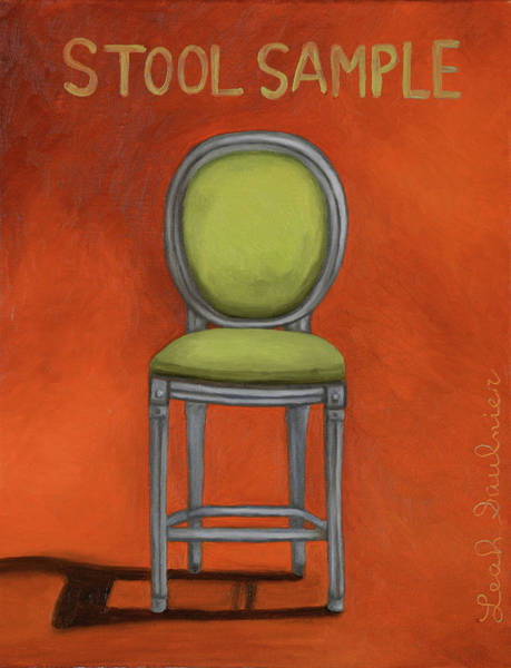 Painting - Stool Sample 2 by Leah Saulnier The Painting Maniac