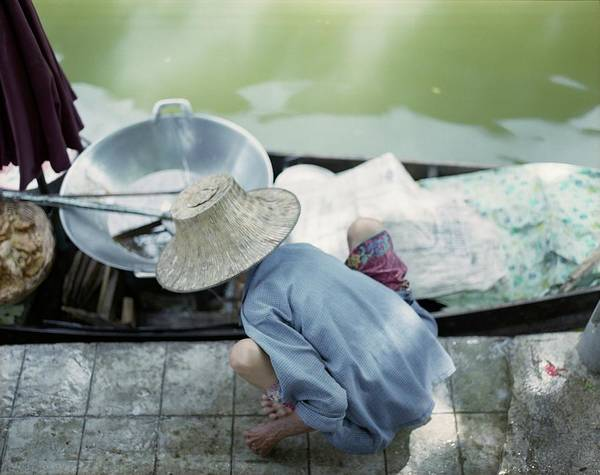 Sun Hat Photograph - Stoop Squat Soup by Oliver Rockwell