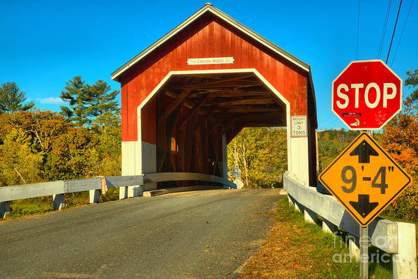 Photograph - Stop At The Carleton Covered Bridge by Adam Jewell