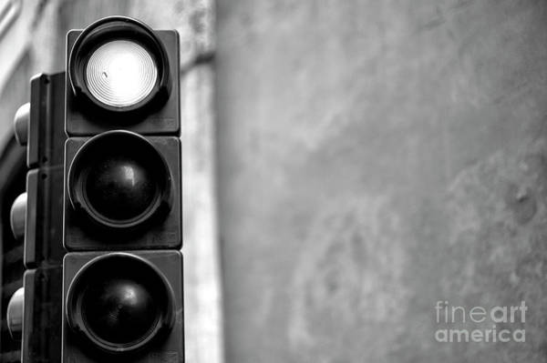 Photograph - Stop Light In Rome by John Rizzuto