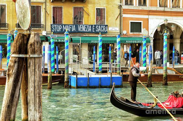 Photograph - Stop Mafia Venezia E Sacra Grand Canal by John Rizzuto