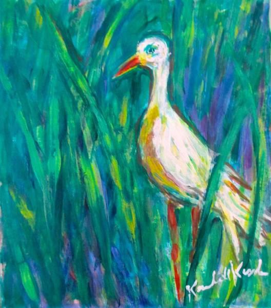 Painting - Stork by Kendall Kessler