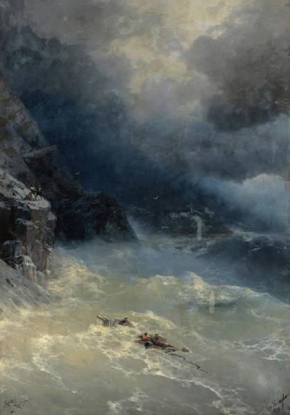 Wall Art - Painting - Storm, 1899 by Ivan Konstantinovich Aivazovsky