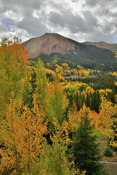 Photograph - Storm Above Fall Colors And Red Mountain by Ray Mathis