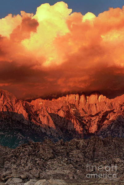 Photograph - Storm At Dawn Alabama Hills Californialifornia by Dave Welling