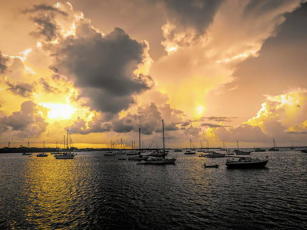 Photograph - Storm Breaking At Sunrise by Robert Stanhope