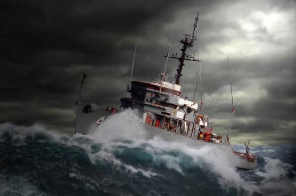 Usn Digital Art - Storm Clearing by Kent Taylor