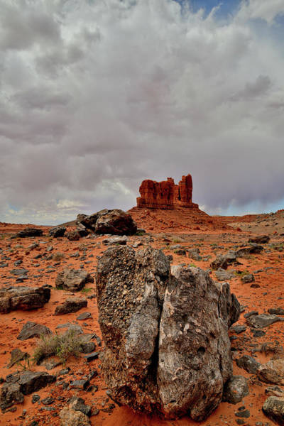 Photograph - Storm Clouds Above Utah's Redrock Desert by Ray Mathis