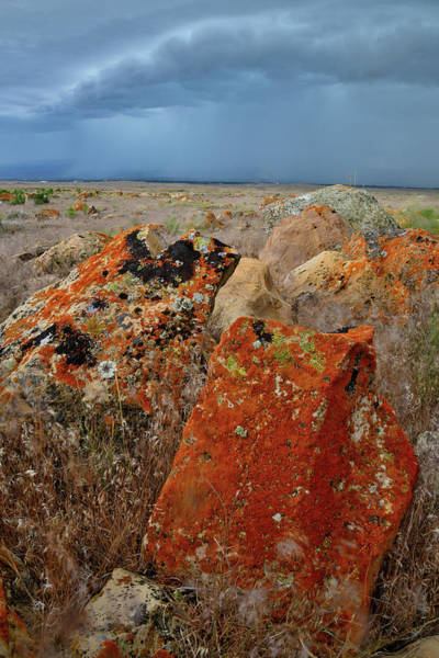 Photograph - Storm Clouds And Beautiful Boulders by Ray Mathis