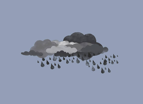 Cloud Digital Art - Storm Clouds And Rain by Jutta Kuss