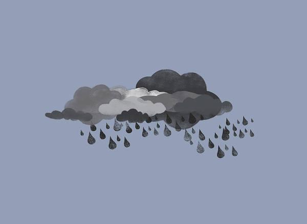 Rain Digital Art - Storm Clouds And Rain by Jutta Kuss