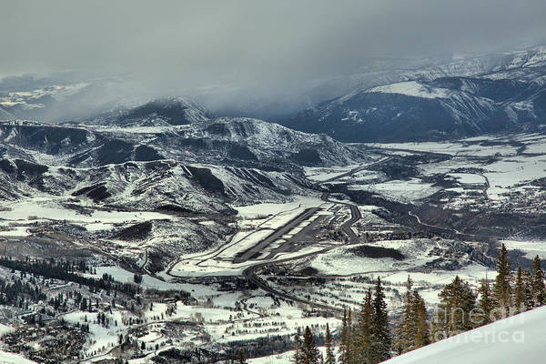 Photograph - Storm Clouds Over Aspen Airport by Adam Jewell