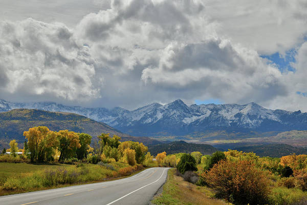 Photograph - Storm Clouds Over Highway 145 South Of Telluride by Ray Mathis