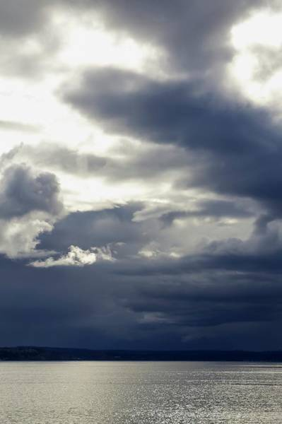 Wall Art - Photograph - Storm Clouds Over Placid Seas by Tom Trimbath