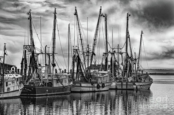 Photograph - Storm Clouds - Shem Creek - Shrimp Boats by Dale Powell