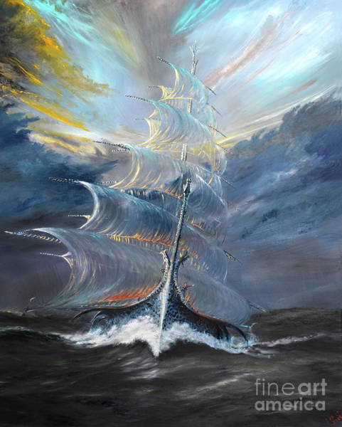 Wall Art - Painting - Storm Creators Beaufort Sea by Vincent Alexander Booth