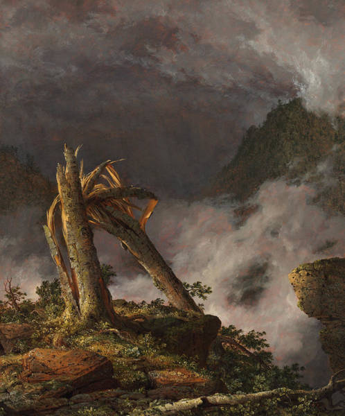 Blast Wave Wall Art - Painting - Storm In The Mountains, 1847 by Frederic Edwin Church