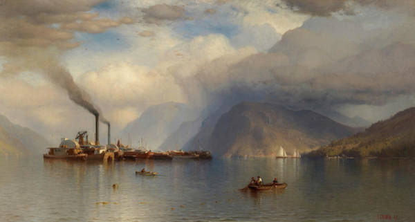 Wall Art - Painting - Storm King On The Hudson, 1866 by Samuel Colman