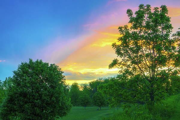 Photograph - Storm Meets Sunset Beautiful Light by Jason Fink