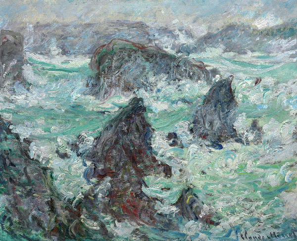 Wall Art - Painting - Storm Off The Coast Of Belle-lle, 1886 by Claude Monet