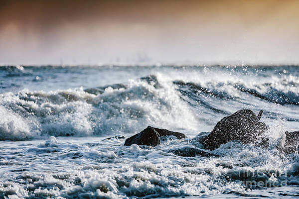 Wall Art - Photograph - Storm On The Sea, Waves Hitting Rocks. by Michal Bednarek