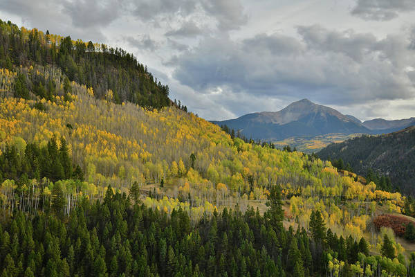 Photograph - Storm Over Sunshine Mountain And Fall Colors by Ray Mathis