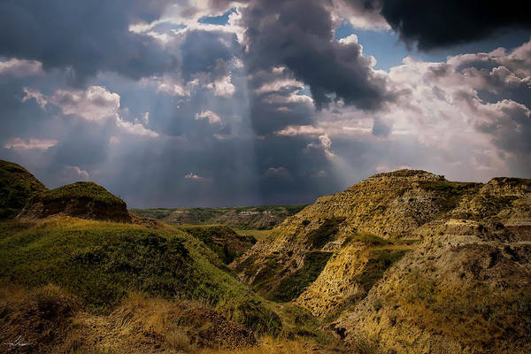 Photograph - Storm Over The Alberta Badlands by Philip Rispin