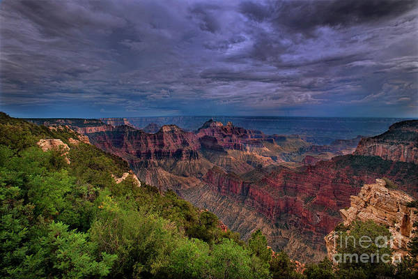 Photograph - Storm Over The North Rim Grand Canyon National Park Arizona by Dave Welling