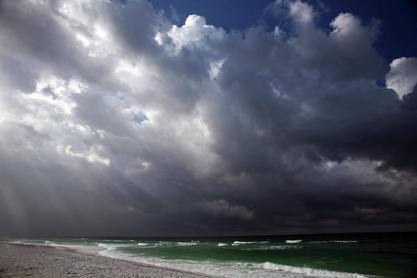 Destin Photograph - Storm Slams Coast by Shanekato