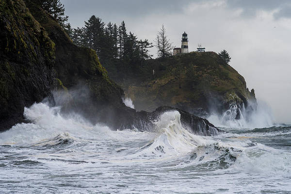Photograph - Storm Surf Cape Disappointment by Robert Potts