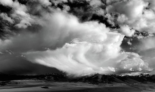 Distinctive Wall Art - Photograph - Storm Textures Black And White by Leland D Howard