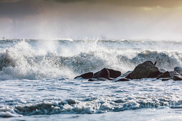 Wall Art - Photograph - Storm Waves On The Ocean. by Michal Bednarek