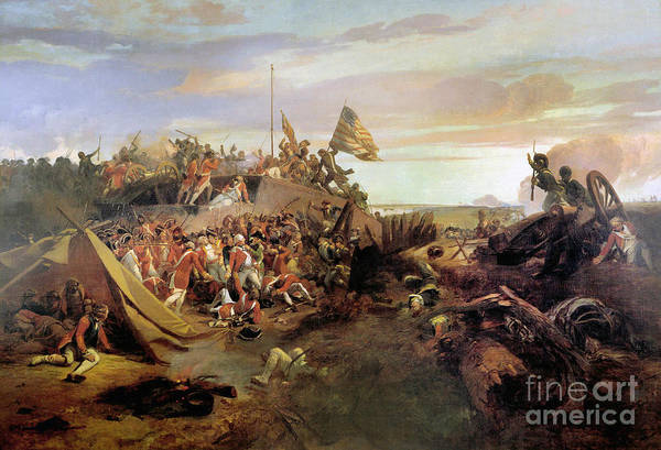 Painting - Storming A Redoubt At Yorktown by Eugene Lami