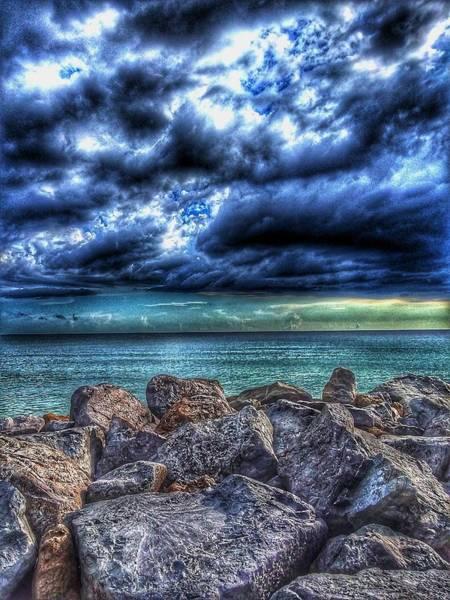 Jetti Wall Art - Photograph - Stormset On The Gulf #2 by Valerie Gavazzi