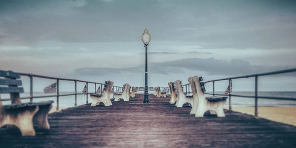 Photograph - Stormy Boardwalk by Steve Stanger