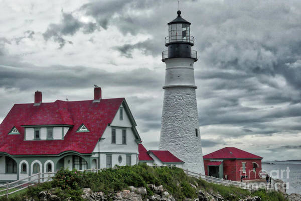 Photograph - Stormy Clouds At Portland Head by Amy Dundon