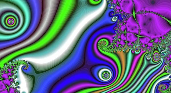 Digital Art - Stormy Current Purple by Don Northup