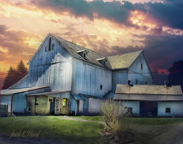 Dairy Barn Digital Art - Stormy Monday by Jack Hunt