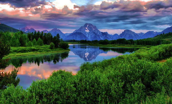 Oxbow Park Photograph - Stormy Morning In Jackson Hole by Jeff R Clow