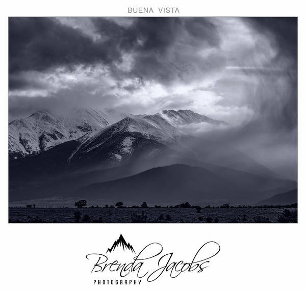 Photograph - Stormy Mount Princeton by Brenda Jacobs