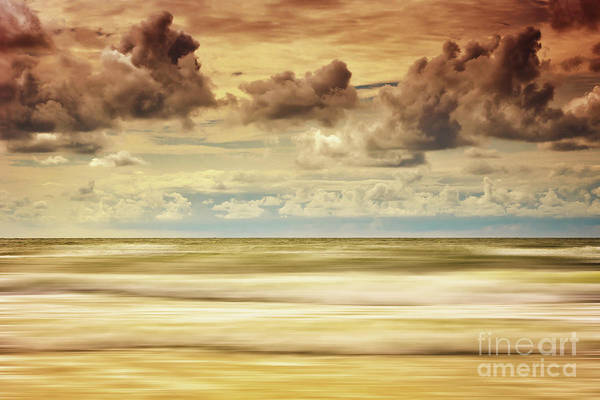 Digital Art - Stormy North Sea by Angela Doelling AD DESIGN Photo and PhotoArt