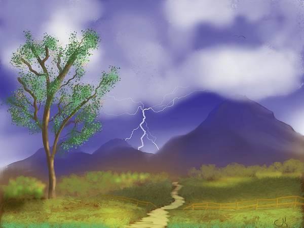 Digital Art - Stormy Path by Chance Kafka